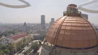 Drone crashes into building in Mexico
