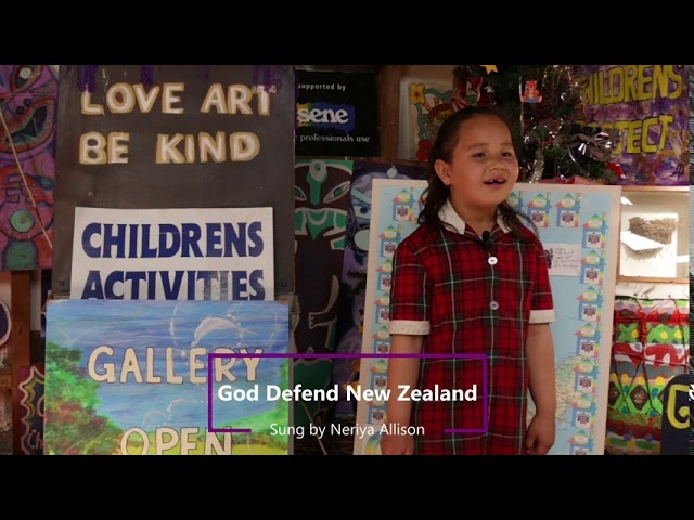 Neriya Allision - Performs God Defend New Zealand