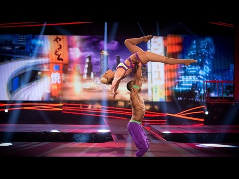 Sarah Harding & Leo Fagbemi's Floor Performance to 'Rather Be'  - Tumble: Episode 2 - BBC One