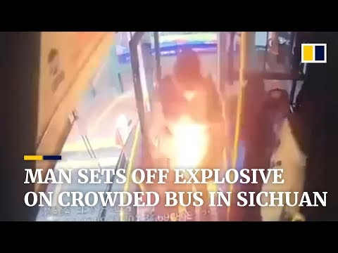 Man sets off explosive on crowded bus in Sichuan, China