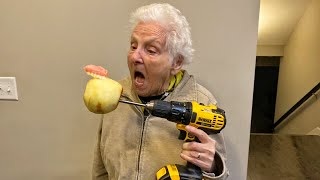Grandma's Teeth Fall Out From This Viral Life Hack | Ross Smith