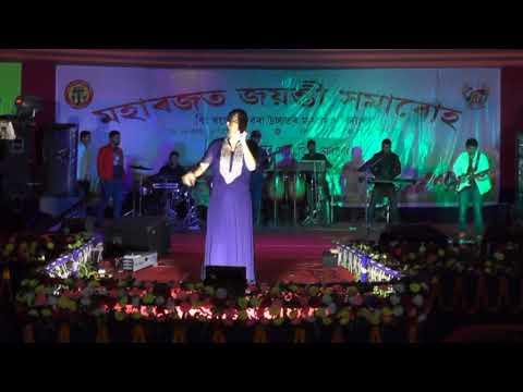 Subasana Dutta singing Rajdweep Song at his school Dhing KBHS School