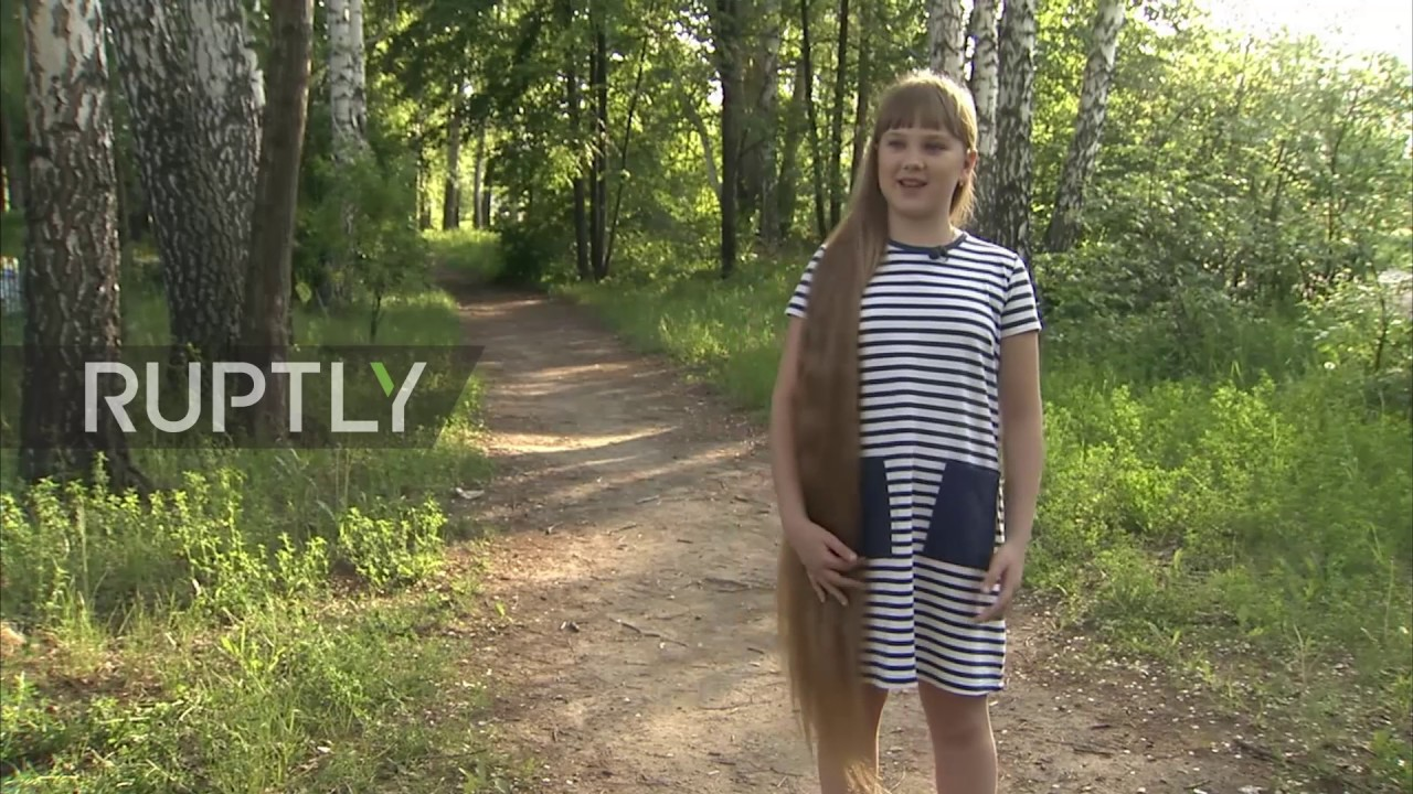 Meet the 12-year-old 'Siberian Rapunzel'