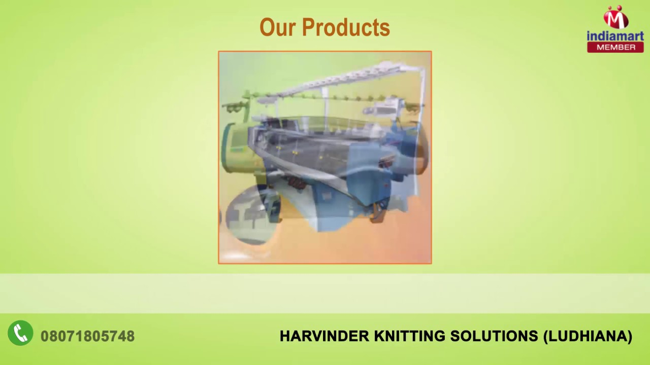 Computerized Flat Knitting Machines By Harvinder Knitting Solutions
