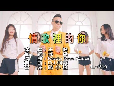 王峰 | 情歌裡的你 | (DJ版) | (1080P)KTV
