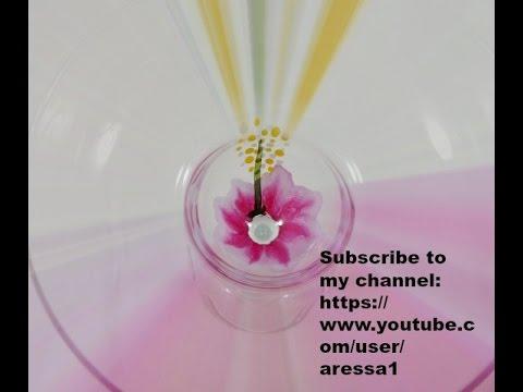 Hibiscus Painted Margarita Glass Part 2