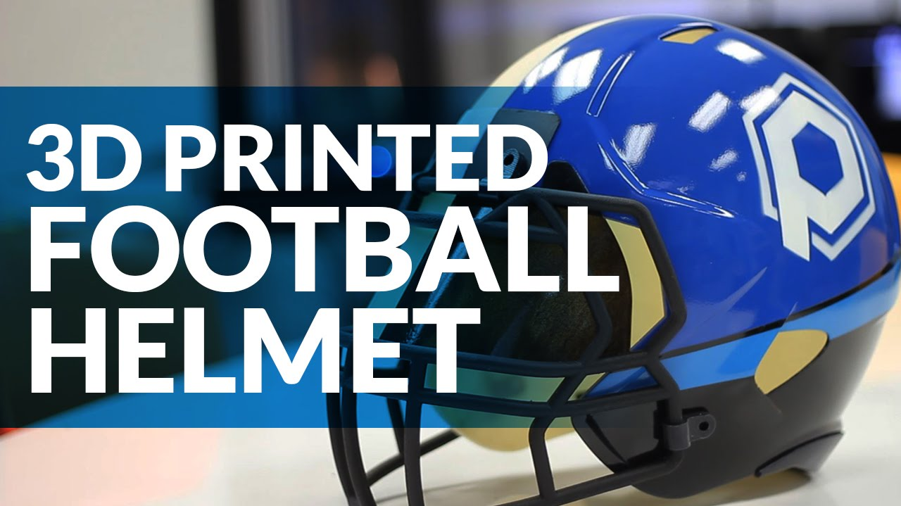 3d Printed Football Helmet Multi Material 3d Printing And Part Finishing Youtube