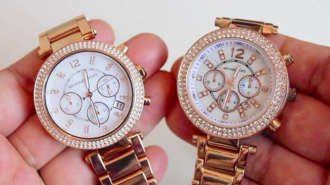 52e9a18da5c5 MICHAEL KORS WATCH - REAL VS FAKE COMPARISON - YouTube