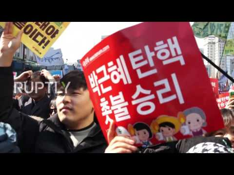 South Korea: 'We won!' - Thousands celebrate Park's impeachment