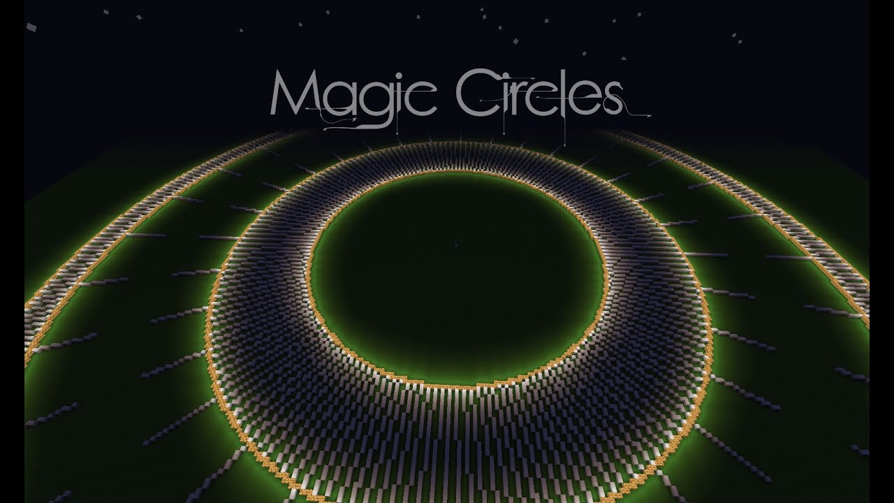 Minecraft Magic Circles 3d Revolve Worldedit