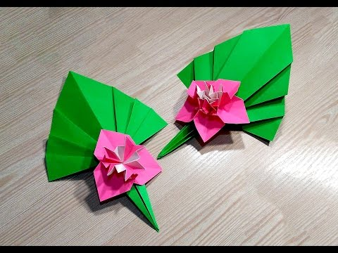 Easy Paper flower. Origami flower from modules.
