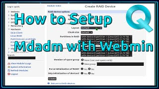 How to Create an Mdadm Raid using Webmin in Ubuntu Server