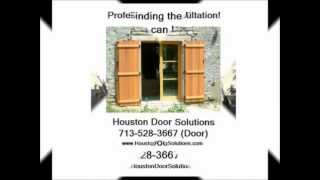 Cedar Shutters Installed Houston - Houston Door Solutions - 713-528-3667 (door)