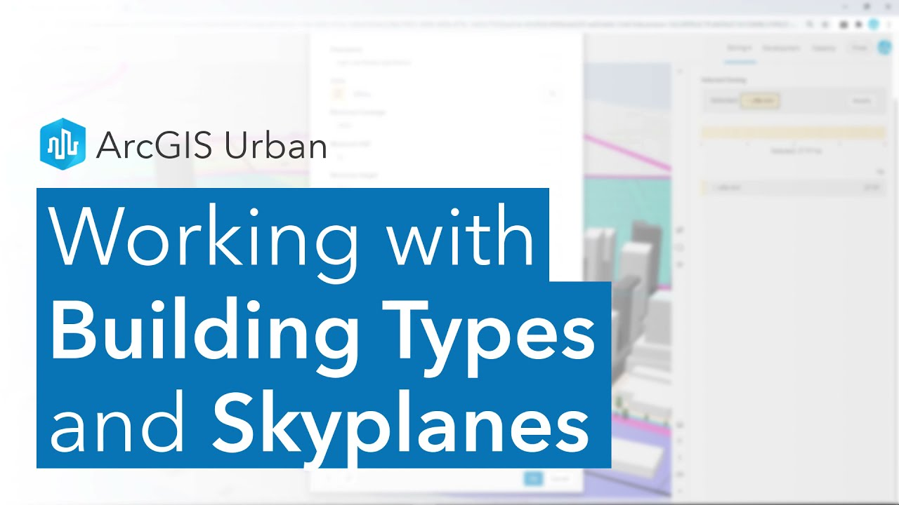 Working with Building Types and Skyplanes