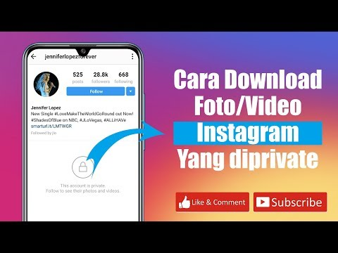 Cara mengunduh foto/video instagram yang diprivate atau dikunci