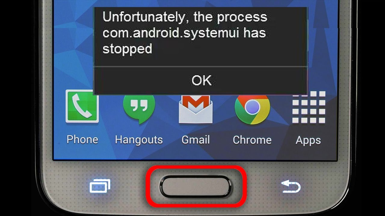 Solved: Unfortunately, com.android.systemui has stopped error from