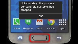 Solved: Unfortunately, com.android.systemui has stopped error from home button