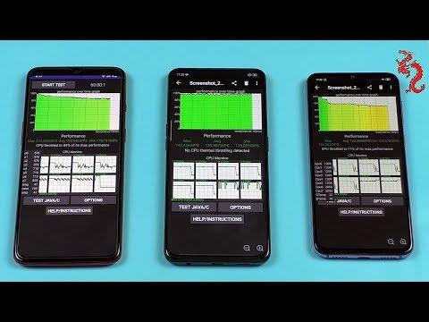 OnePlus 7(SD855), OPPO Reno(SD710), Xiaomi Mi 9se(SD712) //Троттлинг ТЕСТ
