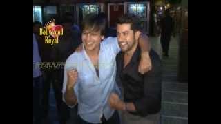 Vivek Oberoi & Aftab Shivdasani visits Gaitey Galaxy Cinema for the promotion of ''Grand Masti'' 1