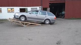 Car servise ramp homemade from wood part 1
