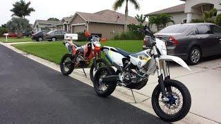 ktm 500 exc xcw husky fe 501 supermoto wheelies burnout and warp 9 wheels husqvarna