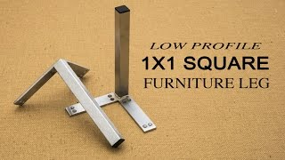 Low Profile Square Furniture Leg | DIY Furniture Feet(http://www.closet-masters.com/furniture-foot-1x1-set-of-2/ Contemporary one inch square furniture legs with pre-drilled mounting plate, perfect for DIY furniture ..., 2015-09-23T03:15:09.000Z)