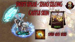 Clash of kings : Swift Spear - Zhao Zilong Castle skin Open 600 boxs
