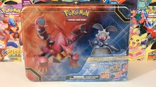 Pokemon Cards - Volcanion & Magerna Collector's Chest Treasure Tin Opening! (LUNCH BOX)