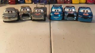 Disney Cars Silver and Metallic Dinoco mini racer 3 pack reviews!