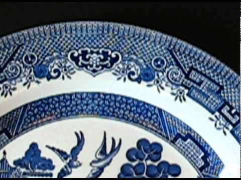 Churchill England Willow Blue Dinner Plate & Churchill England Willow Blue Dinner Plate - YouTube