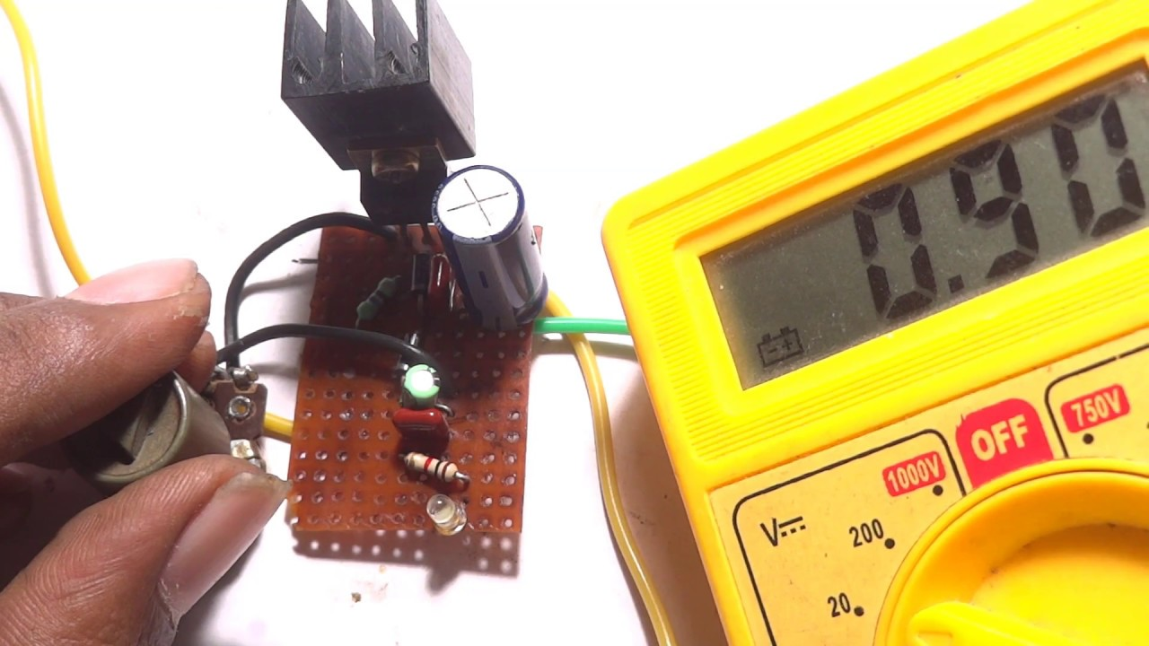 Adjustable Power Supply From 0 12v Youtube Circuit Diagram