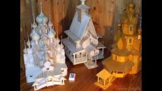 Поделки из спичек - церкви