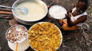 Costliest Payasam !!! Banana Sweet Payasam prepared by My Daddy ARUMUGAM / Village food factory