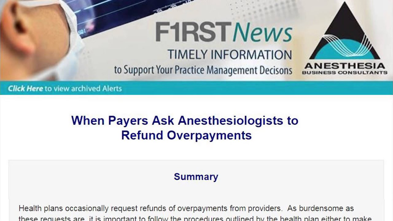 Anesthesia Industry eAlerts | Anesthesia Business Consultants