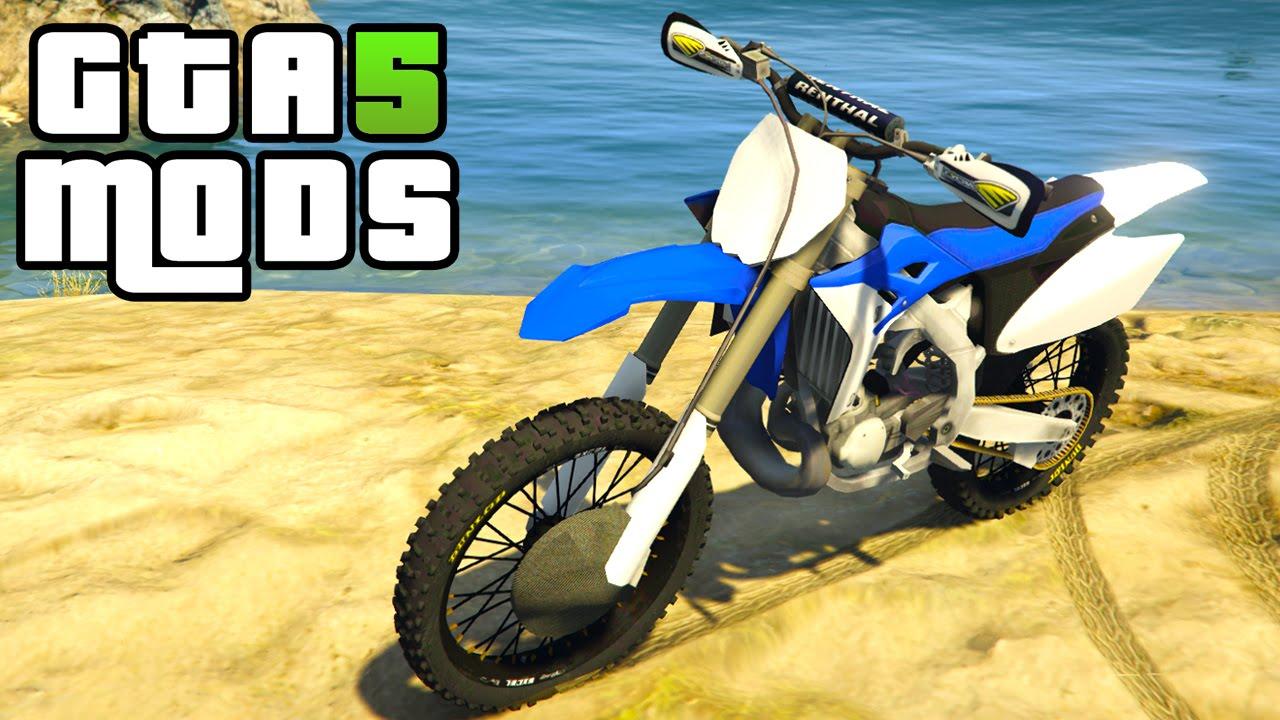 Gta 5 Pc Mods Yamaha Yz 250 Gta 5 Bike Mod Youtube