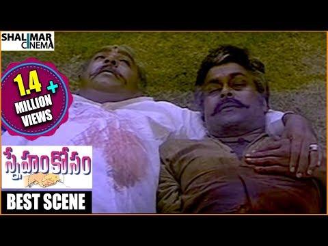 Sneham Kosam Movie|| Heart Touching Climax Scene || Chiranjeevi,Meena