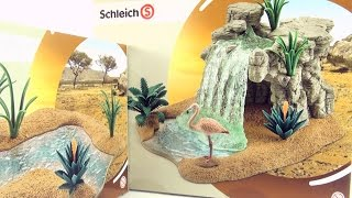 Schleich Waterfall and River with Flamingo toys - Joins to Schleich Watering Hole