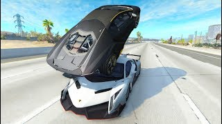 Satisfying Car Crashes Compilation #9 Beamng Drive (Car Shredding Experiments)