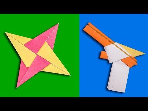 07 New Easy Origami Ninja Star/Sword/Knife/gun - How to make