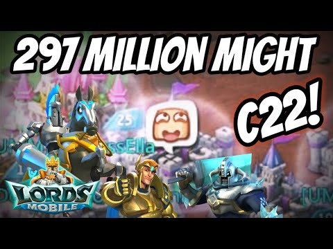 Castle Level 22 With HUGE Might! Account Overview - Lords Mobile