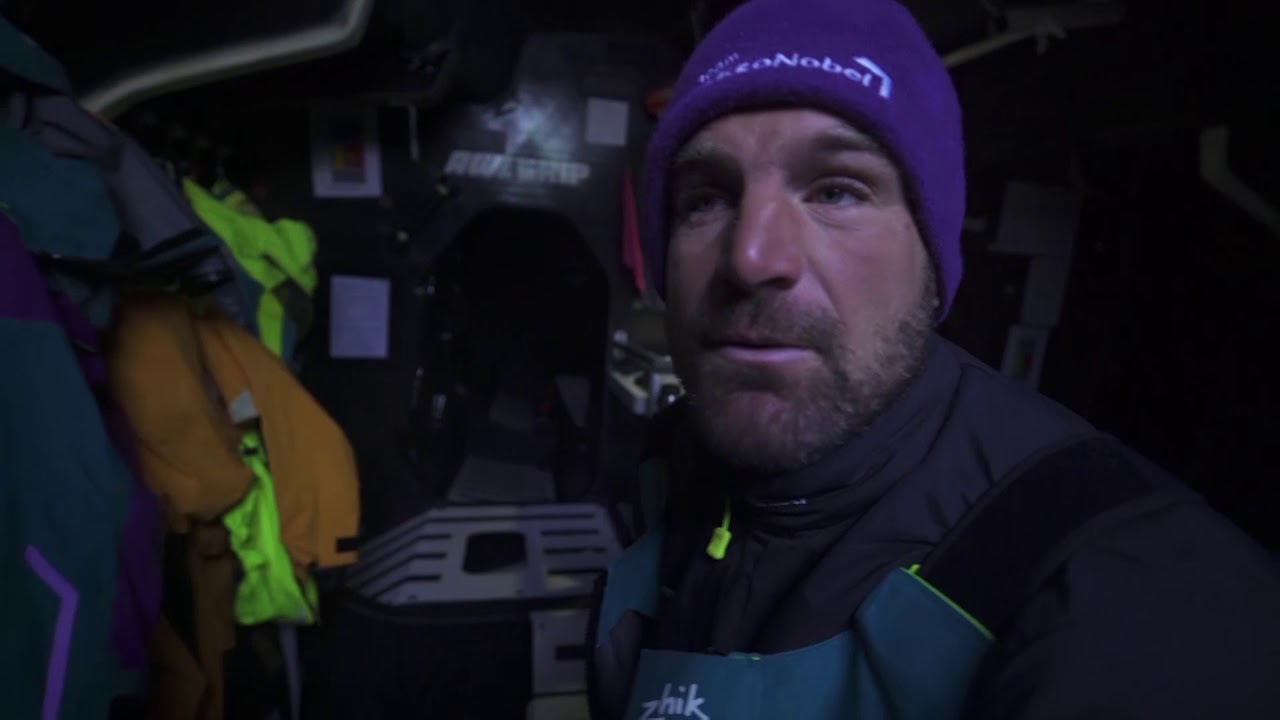 "Simeon, below, tells about receiving the message from Scallywag about the loss of John Fisher (""Fish""). He expresses condolences, and wishes strength to the crew on board Scallywag. He knows how difficult it is in this situation. Hopes to see them safely on shore very soon. Best wishes to them from Team AkzoNobel."