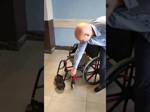 Vídeo do produto Cadeira de Rodas KE Até 120 Kg - Assento 44cm  Ortobras