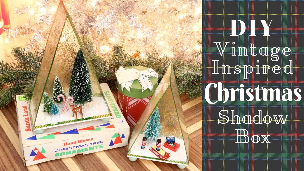 Christmas Tree Display Board.Vintage Inspired Diy Christmas Ornament Display Cases Christmas Craft Decor