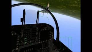 F-18 vs Su-27 Dogfight (2001 F/A-18 Precision Strike Fighter, based on Hornet 3.0 simulato
