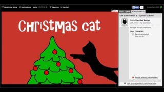 Christmas Cat Walkthrough (Medium Badge)