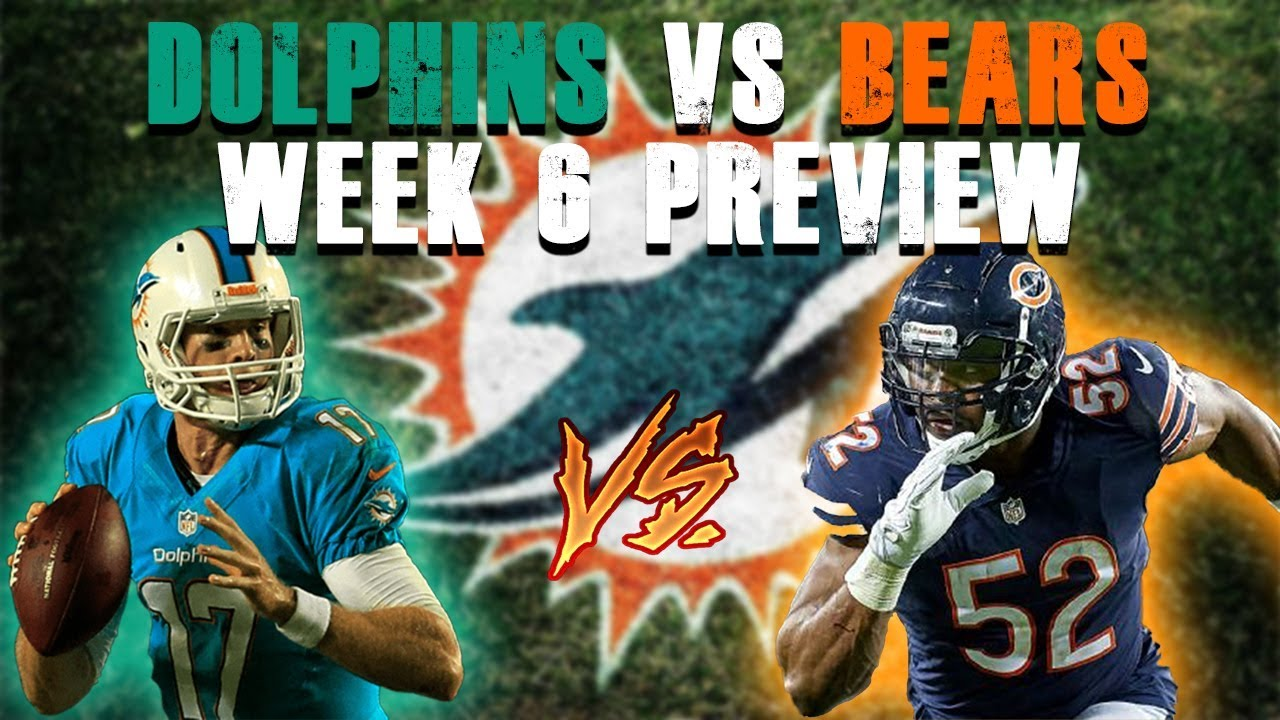 Miami Dolphins Vs Chicago Bears Week 6 Preview  Injury Report - YouTube 27c645a3b