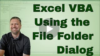 In this video we use the VBA Folder Picker to have a File Dialog op...