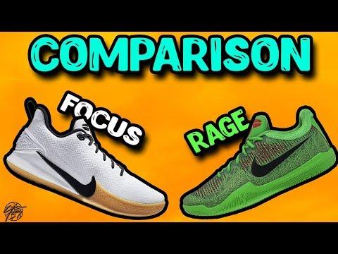 Nike Mamba Focus & Mamba Rage Comparison!
