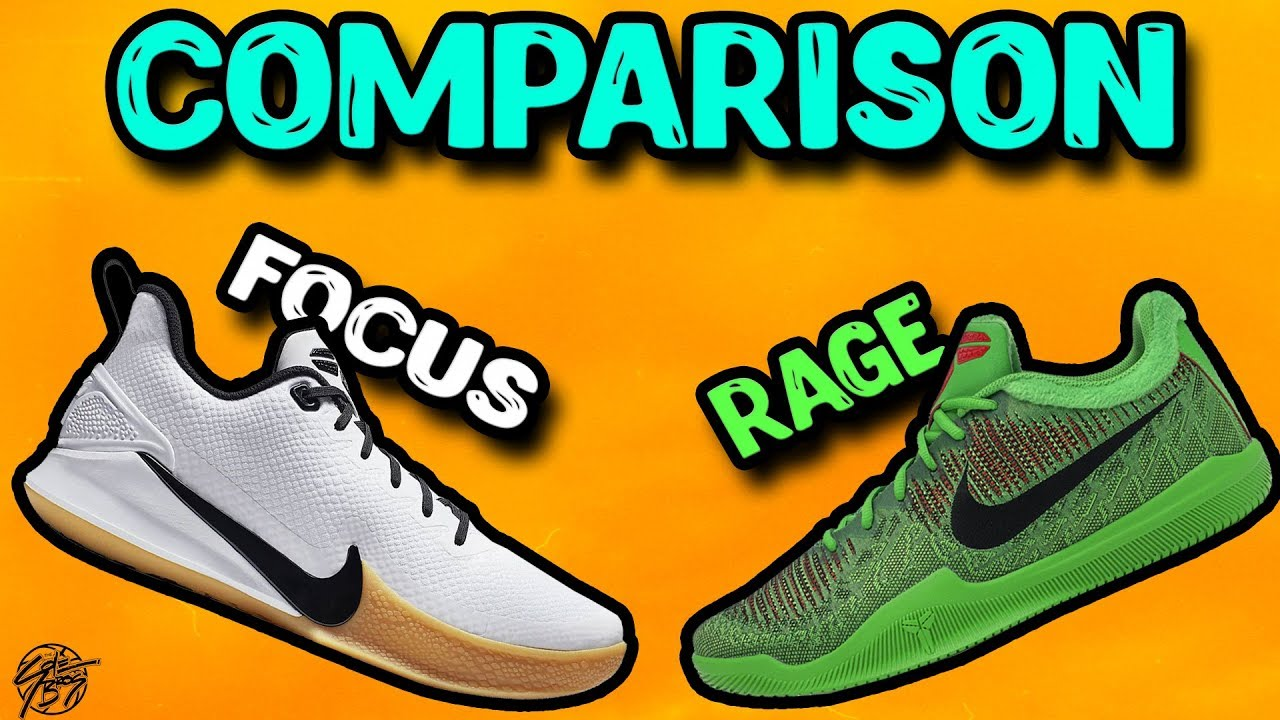 newest collection 94576 59900 Nike Mamba Focus   Mamba Rage Comparison!