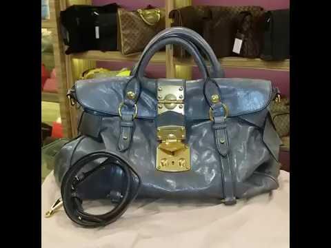 6641fff1642a MIU MIU Vitello Lux Bow Bag - YouTube